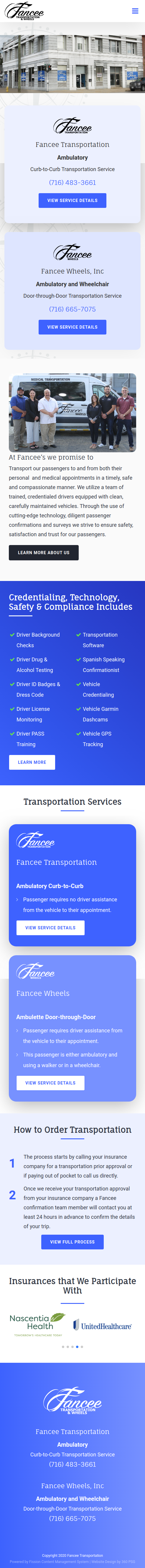 Fancee Website - Mobile
