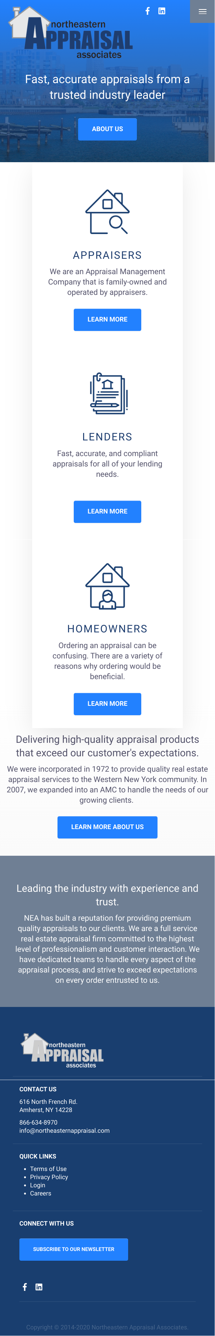 Northeastern Appraisal Website - Mobile