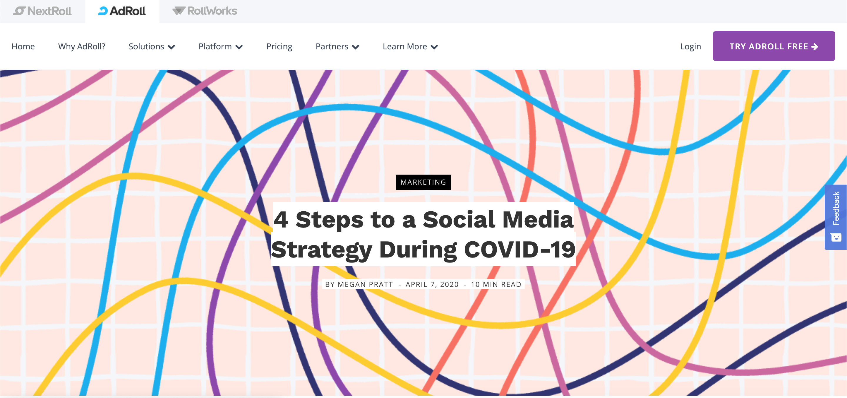 4 Steps to a Social Media Strategy During COVID-19 by AdRoll