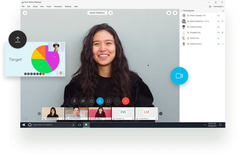 WebEx Video Conference Interface