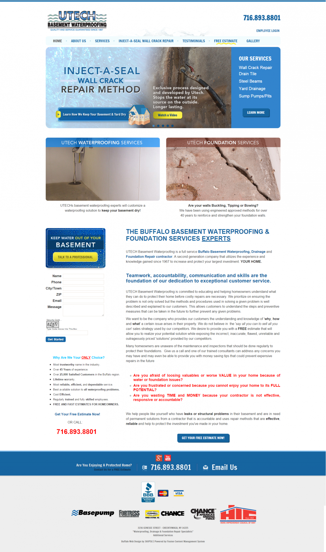 Portfolio Pieces - Utech basement waterproofing