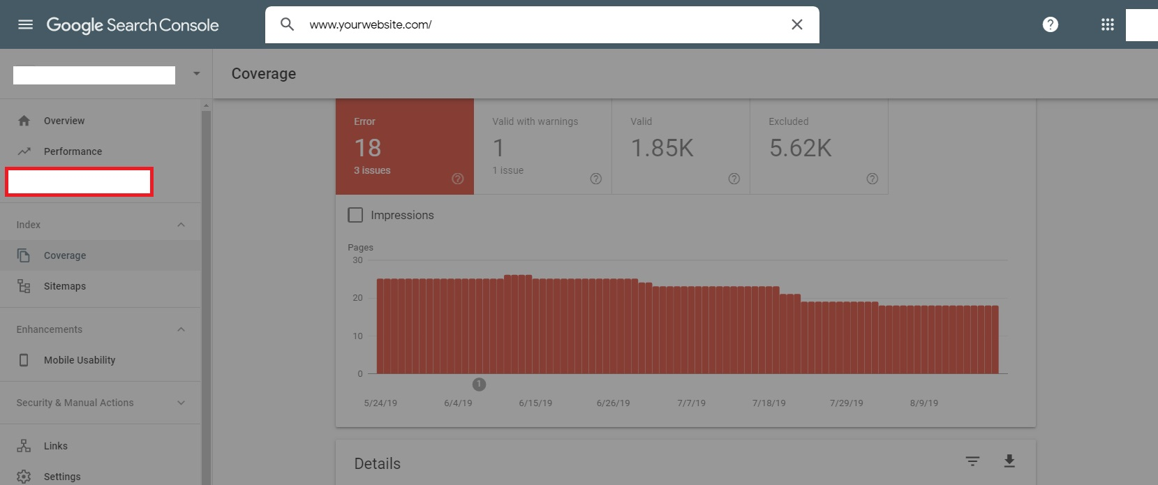Google Search Console URL Inspection Tool