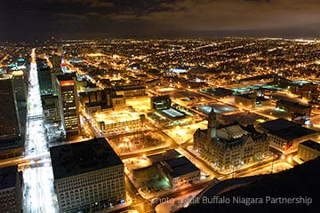 Buffalo at Night