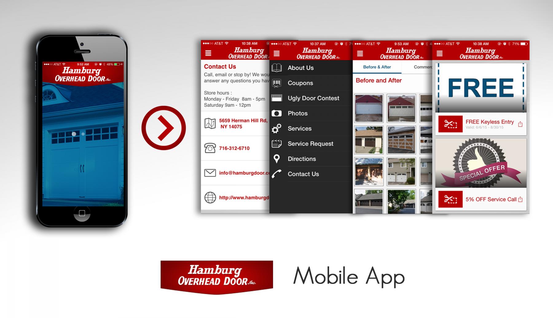 hamburg overhead door inc has gone mobile in the app store. Black Bedroom Furniture Sets. Home Design Ideas