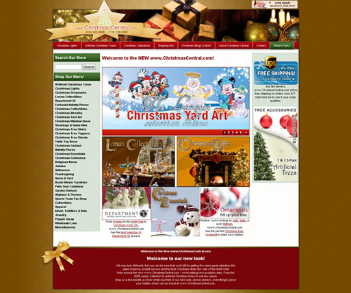 The online home for Dave's Christmas Store, www.ChristmasCentral.com, was in