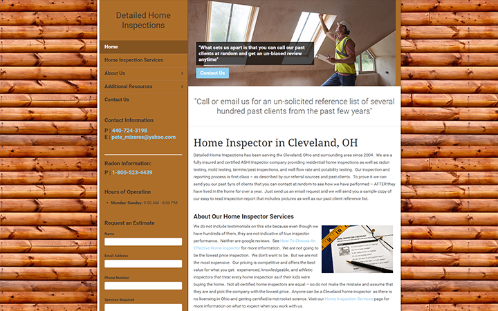 Detailed Home Inspections
