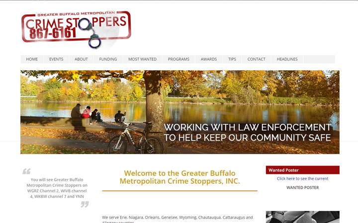 Buffalo Crime Stoppers (Redesign)