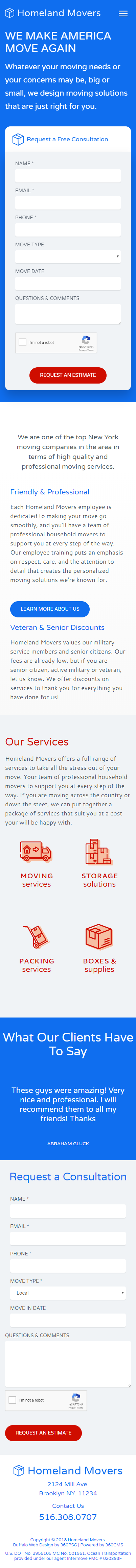 Homeland Movers Mobile