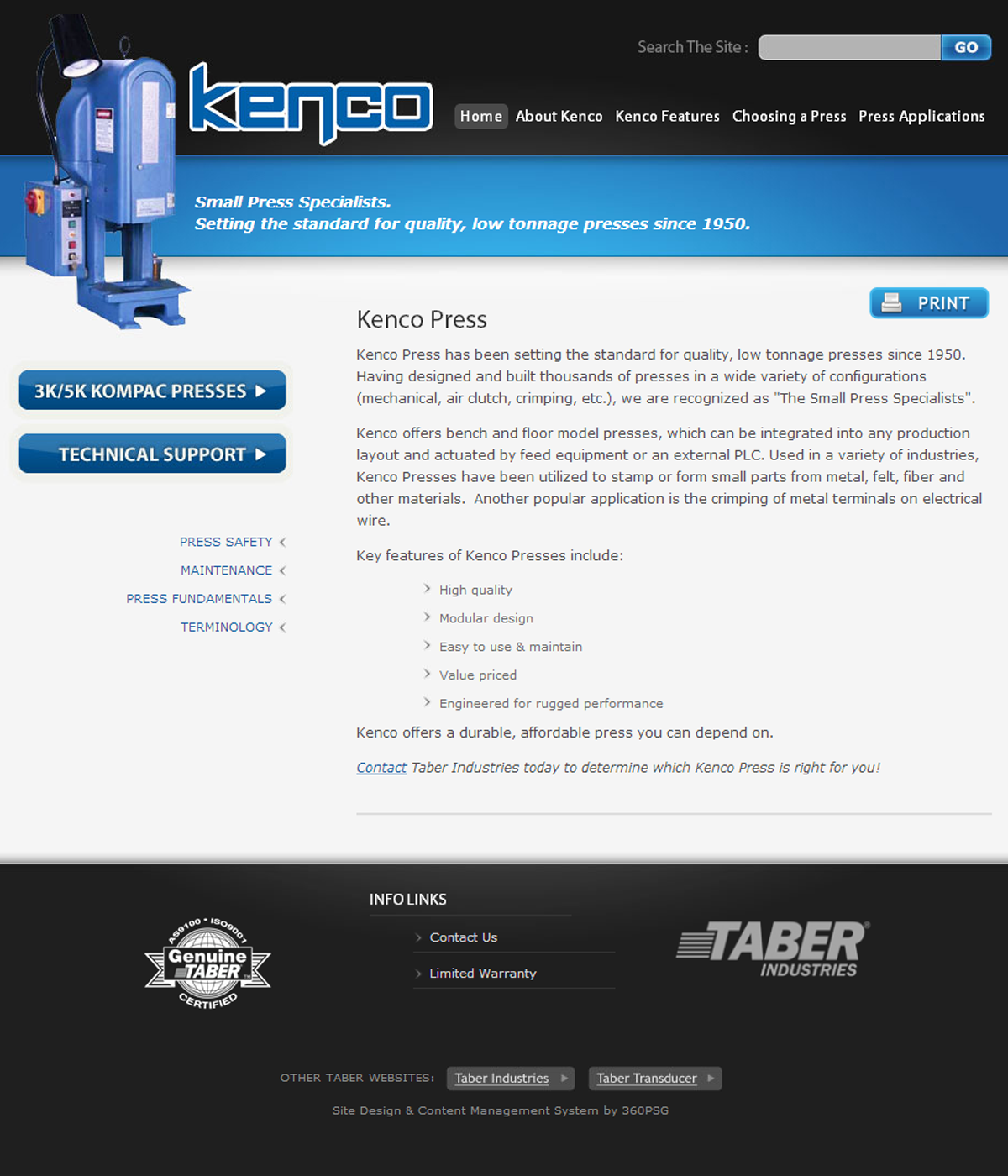 Kenco Press (Taber Industries)