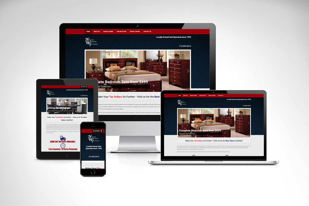National Warehouse Furniture Sales Brings Their Wide Selection Online With A New Website